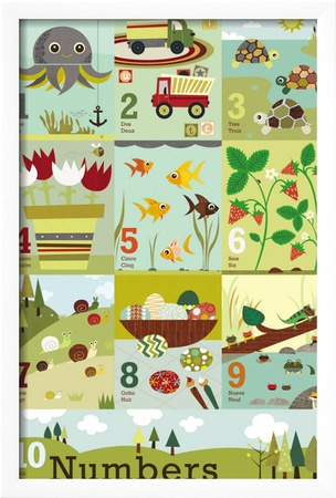Counting to Ten Framed Giclee Print