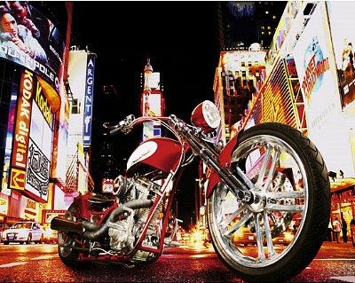 Todd Latimer (Midnight Rider, Motorcycle) Art Poster Print Poster
