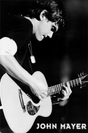 John Mayer (Playing Guitar, B&W) Music Poster Print Posters
