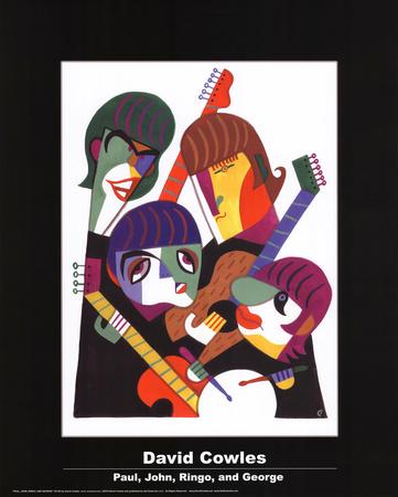 David Cowles- Paul, John, Ringo, and George Kunstdruck von David Cowles