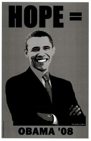 Barack Obama (Hope '08) Art Poster Print Masterprint