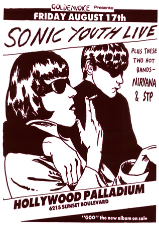 Vintage Sonic Youth NIRVANA STP Poster PICTURE Print