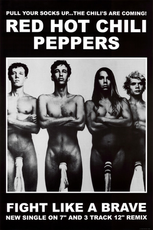 Red Hot Chili Peppers (Wearing Socks, Fight Like a Brave) Music Poster Print Prints