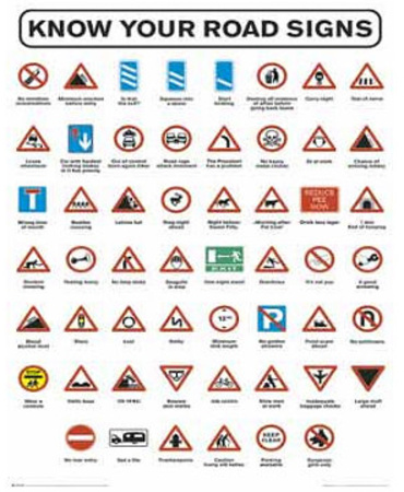 road signs chart art poster print posters at