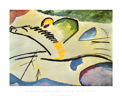 Man On A Horse Posters by Wassily Kandinsky