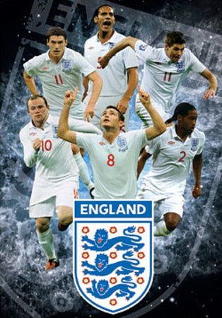 England F.A Stars 3-D Lenticular Sports Poster Print Prints