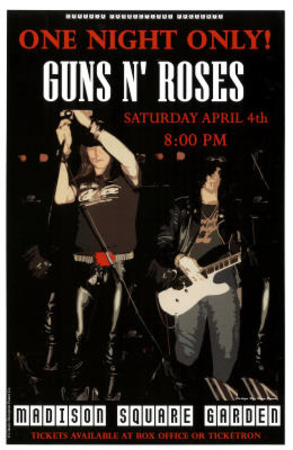 guns n roses madison square garden music poster print masterprint at