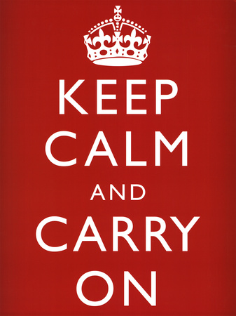 """Keep Calm and Carry On"" Classic Red Poster"