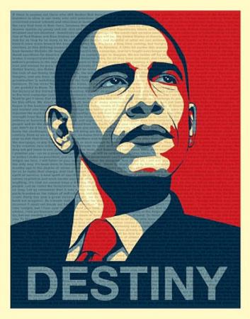 Barack Obama (Destiny, Entire Speech) Art Poster Print Posters