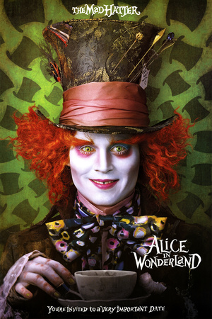 Alice in Wonderland Movie Mad Hatter Poster Print Posters