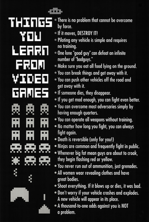 Things You Learn from Video Games Poster Print Photo