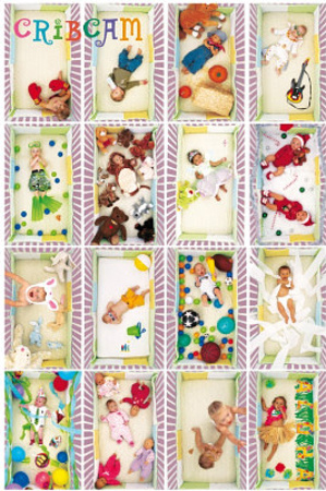Crib Cam (Baby Collage) Art Poster Print Prints