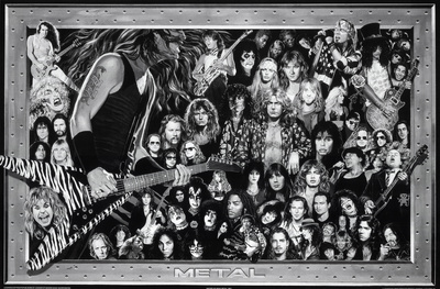 Metal (Heavy Metal Collage) Music Poster Print Photo