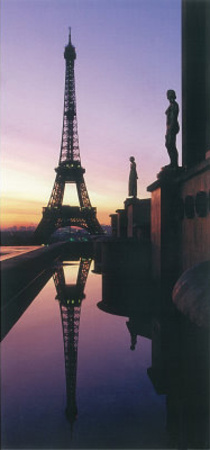 Eiffel Tower Paris Sunset Greeting Cards 12 Per Package Conjuntos de cartes de notas