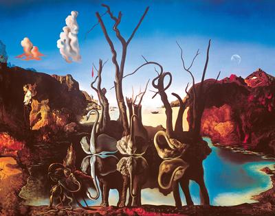 Swans Reflecting Elephants, c.1937 Prints by Salvador Dalí