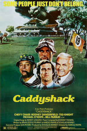 Caddyshack Movie Chevy Chase Bill Murray Group Vintage Poster Print アートポスター