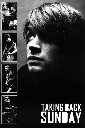 Taking Back Sunday Black and White Music Poster Print poster