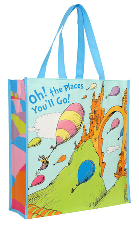 Dr. Seuss Oh the Places Large Recycled Shopper Sacola