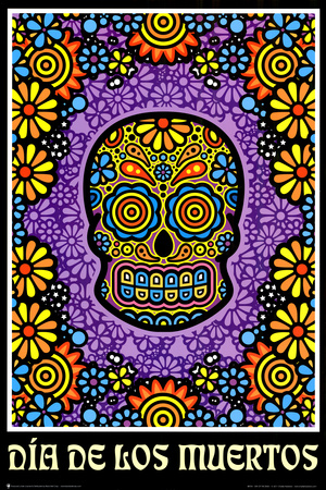 Dia de los Muertos Day of the Dead Art Poster Print Posters