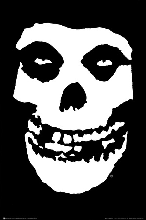 The Misfits (Skull, No Text) Music Poster Print Plakater