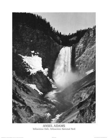 Ansel Adams Yellowstone Falls Park Art Print POSTER Posters