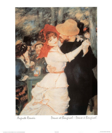 Auguste Renoir (Dance At Bougival) Art Print Poster Prints