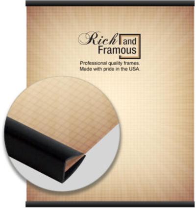 Colgadores para pósters de resina en negro mate de 61 cms Colgante para pósters