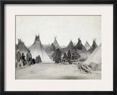 Sioux Encampment, 1891 Framed Photographic Print by John C.H. Grabill