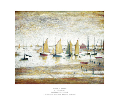 Yachts at Lytham Posters by Laurence Stephen Lowry