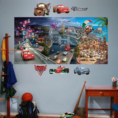 Cars 2 Mural Wall Mural