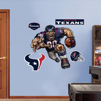 Houston Texans Die Cut RB Liquid Blue Wall Decal