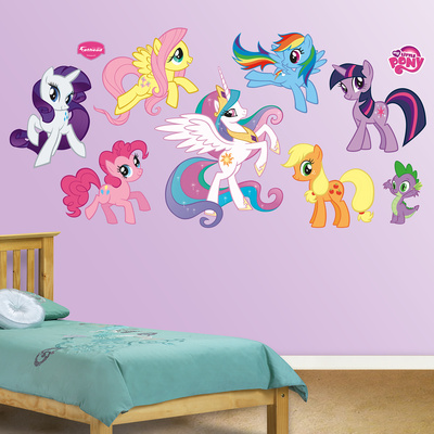 My little pony collection mode wallstickers