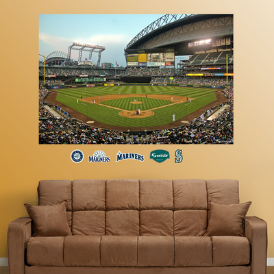 Seattle Mariners Safeco Field Stadium Mural  Autocollant mural