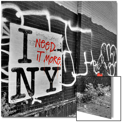 I Need it More NY Art on Metal