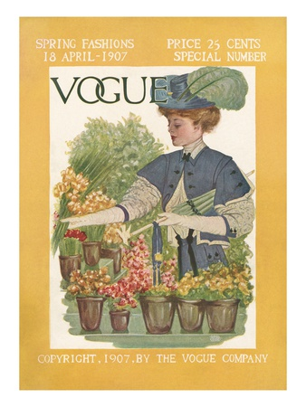 Vogue Cover - April 1907 Giclee Print