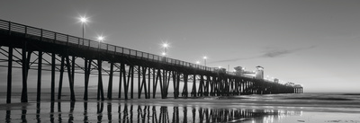 Pier Night Panorama II Poster by Lee Peterson