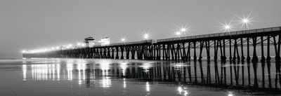 Pier Night Panorama I Prints by Lee Peterson