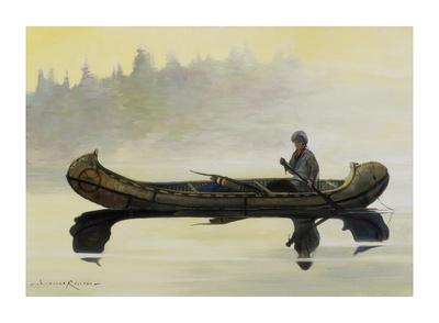 Canoe Premium Giclee Print by Nicholas Coleman