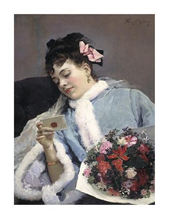 The Love Letter Premium Giclee Print by Raimundo de Madrazo Y Garetta