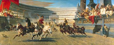 The Chariot Race, Detail Premium Giclee Print by Alexander Von Wagner