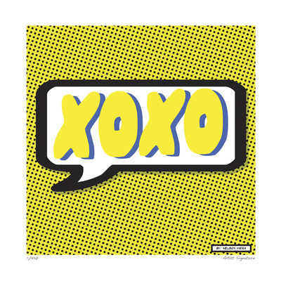 XOXO Giclee Print by Nelson Viera