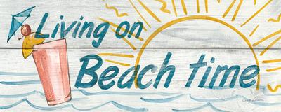 Living on Beach Time Prints by Avery Tillmon