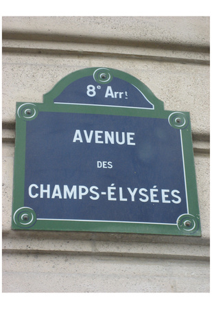 Champs-Elysees (Sign) Art Poster Print Photo