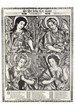 Christian Schmid (The four holy Archangels Michael, Gabriel, Uriel and Raphael) Art Poster Print Posters