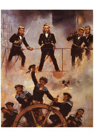 Anton Romako (Tegetthoff admiral in the naval battle at Lissa) Art Poster Print Print