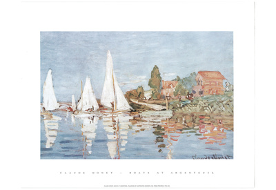 Claude Monet (Boats At Argenteuil) Art Print Poster Posters