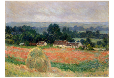 Claude Monet (Haystack Near Giverny) Art Poster Print Posters