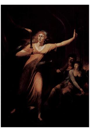 Johann Heinrich Fussli (The schlafwandelnde Lady Macbeth) Art Poster Print Print