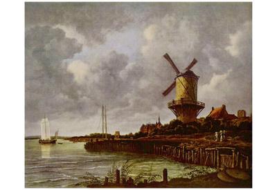 Jacob Isaaksz. van Ruisdael (Mill at Wijk Duurstede) Art Poster Print Posters