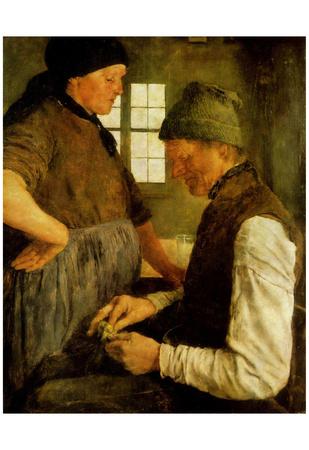 Leibl Wilhelm Maria Hubertus (The savings groschen) Art Poster Print Posters!